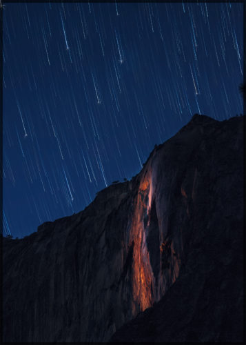 Horse Tail Falls under the stars