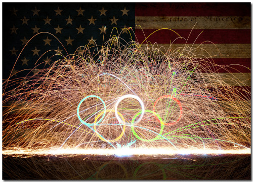 USA Olympic Fire Rings
