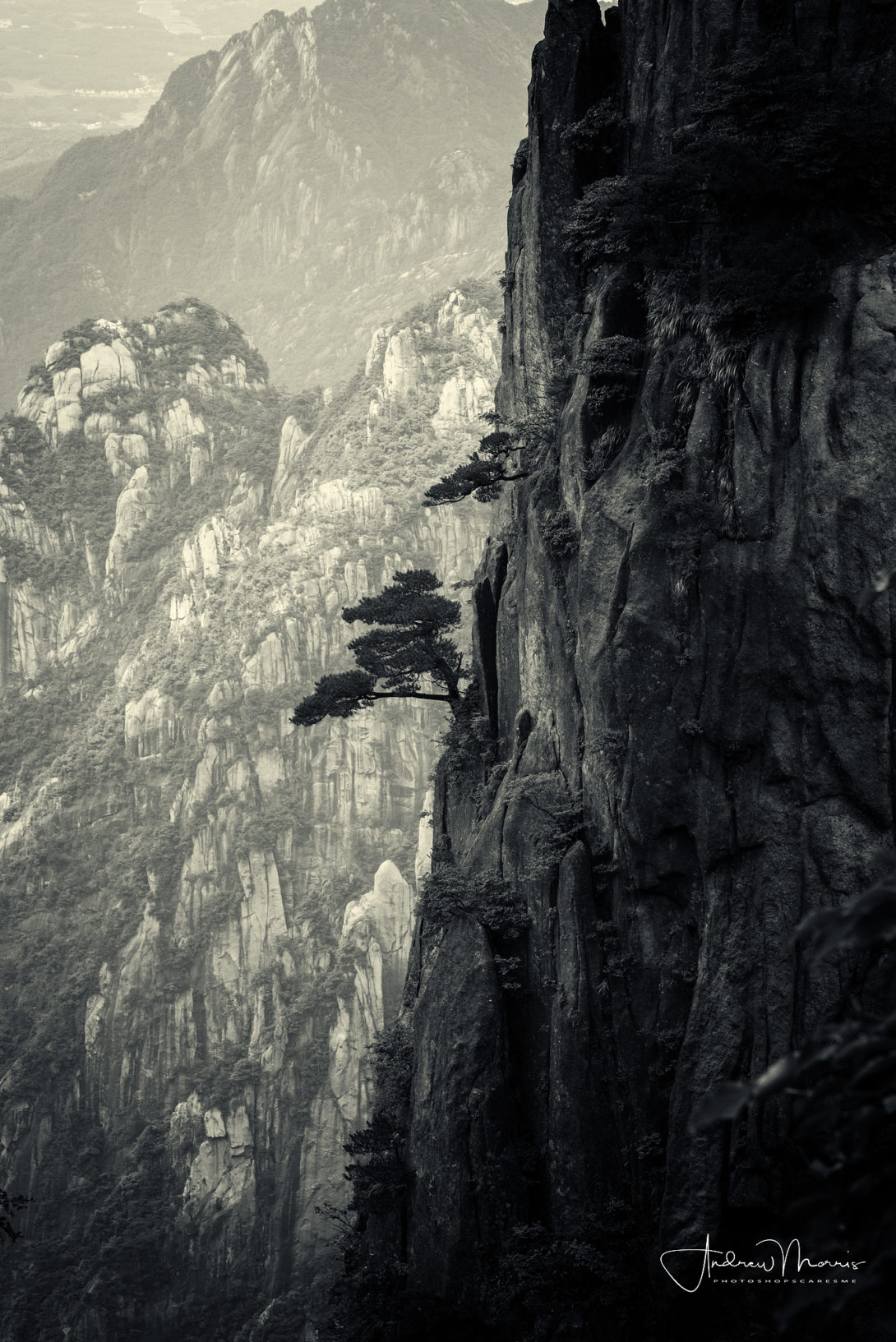 China's Yellow Mountains with NIK Silver Efex Pro 2